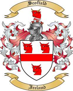 Scofield Family Crest From Ireland By The Tree Maker