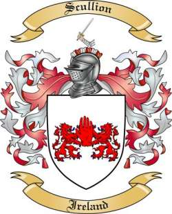 scullion family crest from ireland by the tree maker