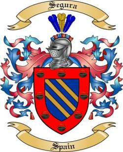 Segura Family Crest From Spain By The Tree Maker