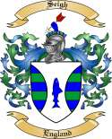 Seigh Family Coat of Arms from England