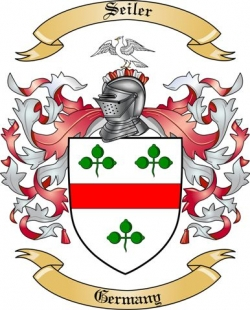 Seiler Family Crest from Germany
