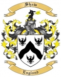Shaw Family Coat of Arms from England