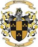 Simmonds Family Coat of Arms from England2