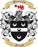 Simmonds Family Coat of Arms from Ireland