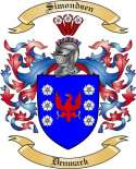 Simondsen Family Coat of Arms from Denmark