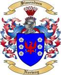 Simondsen Family Coat of Arms from Norway