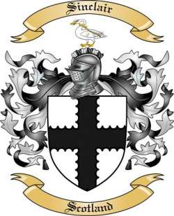 Sinclair Family Coat of Arms from Scotland