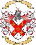 Smith Family Crest from Austria