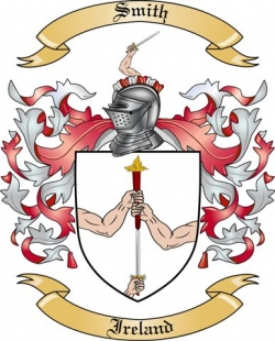 smith family crest from ireland by the tree maker