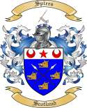 Spires Family Coat of Arms from Scotland