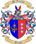 St.Amand Family Coat of Arms from France2