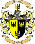 Stanart Family Coat of Arms from England