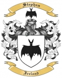 Stephen Family Coat of Arms from Ireland