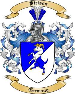 Stetson Family Coat of Arms from Germany