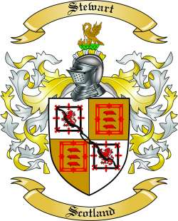 Stewart Family Coat of Arms from Scotland