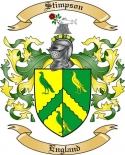 Stimpson Family Coat of Arms from England