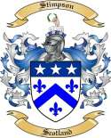 Stimpson Family Coat of Arms from Scotland
