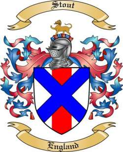 Stout Family Crest from England by The Tree Maker