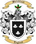 Strickland Family Coat of Arms from England