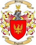 Strong Family Coat of Arms from England