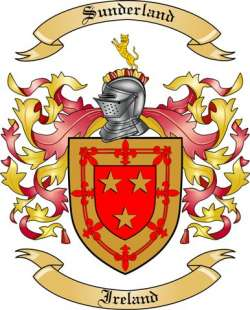 Sunderland Family Crest from Ireland by The Tree Maker