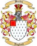 Surtes Family Coat of Arms from England