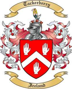 Tackerberry Family Crest from Ireland