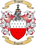 Taggett Family Crest from England
