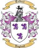 Talbert Family Coat of Arms from England