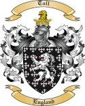 Tall Family Coat of Arms from England