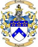 Tamhus Family Crest from England