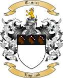 Tanner Family Coat of Arms from England
