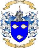 Tarbet Family Coat of Arms from England
