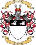 Tarelton Family Coat of Arms from England