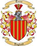 Tarre Family Crest from England