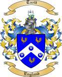 Tartt Family Crest from England