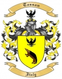 Tassan Family Crest from Italy