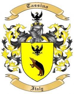 Tassino Family Crest from Italy