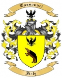 Tassonari Family Crest from Italy