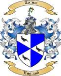 Tatum Family Crest from England