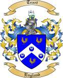 Teart Family Crest from England