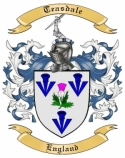 Teasdale Family Crest from England