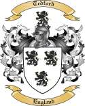 Tedford Family Coat of Arms from England