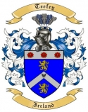 Teefey Family Crest from Ireland
