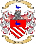 Teel Family Crest from Germany