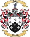 Teige Family Coat of Arms from Ireland