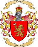 Teige Family Crest from Norway