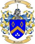 Teign Family Coat of Arms from Scotland