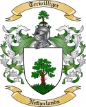 Terwilliger Family Crest from Netherlands