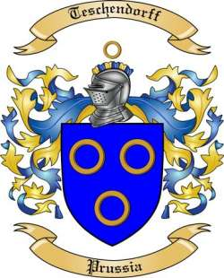 Teschendorff Family Coat of Arms from Prussia